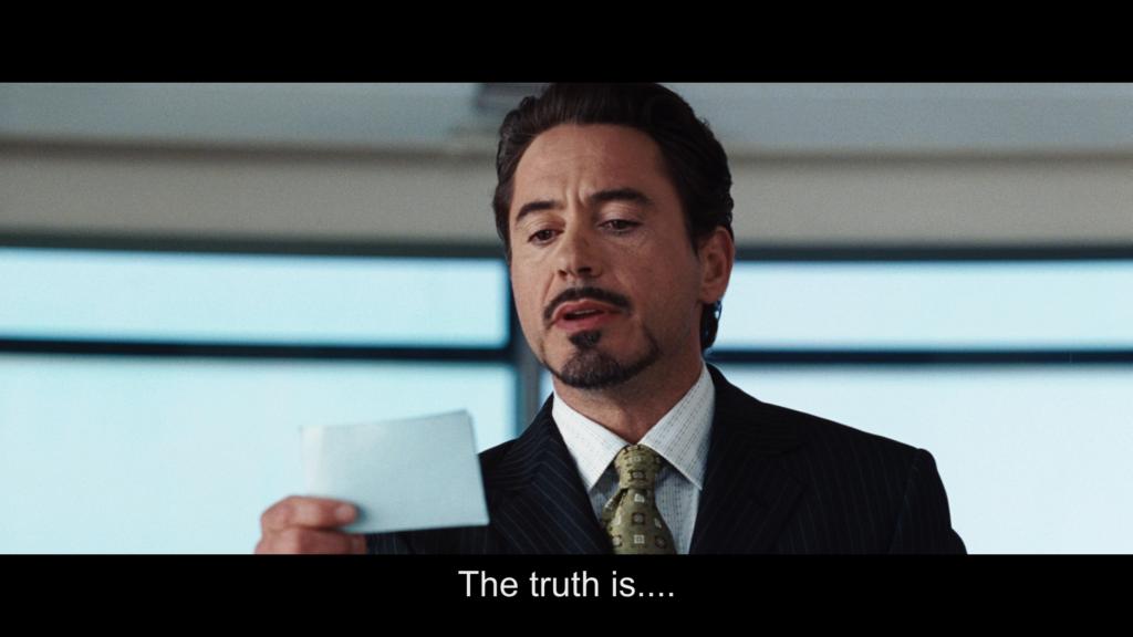 真実は アイアンマン