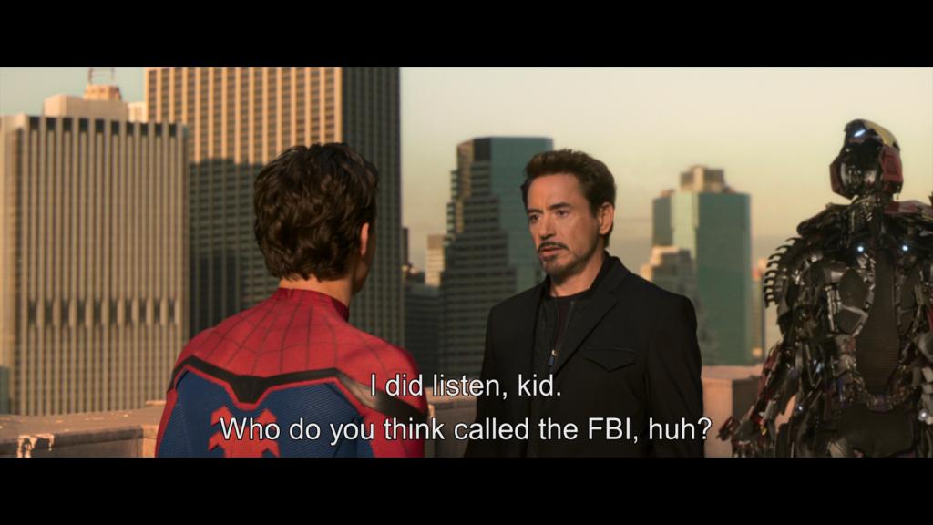 トニー ピーター スパイダーマン ホームカミング