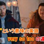 【スパイダーマン】「とても」という意味の英語『very, so, too』の違いは?【アベンジャーズのセリフで英語の問題】